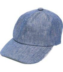 brunello cucinelli denim hat - blue
