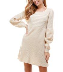 city studios juniors' knit sweater dress