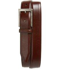 men's johnston & murphy calfskin belt, size 36 - brown