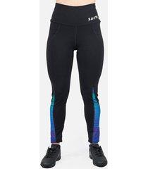 leggings deportivos tayrona saeta negro/azul retro