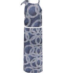 geisha jurk halter aop circle blauw