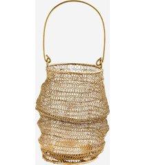 lampion boho złoty metalowa siatka 22cm