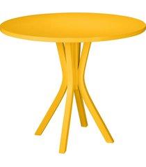 mesa de madeira redonda de madeira felice 410 amarelo - maxima