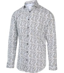 blue industry overhemd shirt print 2013.21 wit