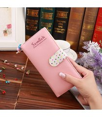 billetera mujeres- perlas colgantes ornamentos lindo-rosa