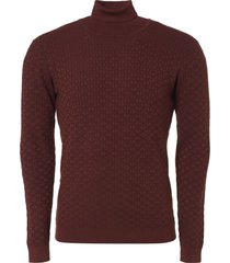 no excess pullover, r-neck, plated jacquard k brick