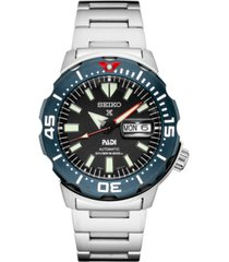 seiko men's automatic prospex stainless steel bracelet watch 42.4mm