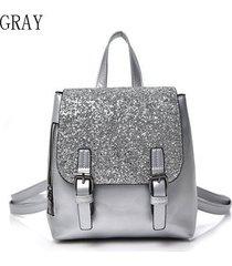 mochilas/ mochila de plata de la manera femenina 2018-gris