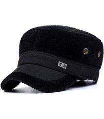 unisex imitaciónmink fur earflap aire libre militar sombrero