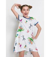 pijama e camisola acuo pijama e camisola branco - branco - menina - dafiti