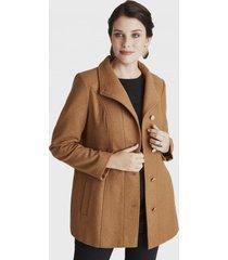 abrigo manga larga cuello sport marrón  curvi