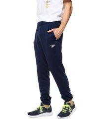 pantalón azul reebok classic cl ft jogger
