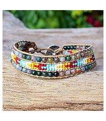 agate wristband bracelet, 'dreamy colors' (thailand)