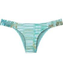 lygia & nanny panama printed bikini bottom - green