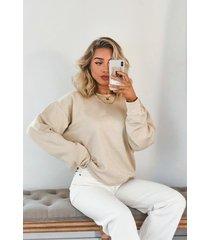 basic oversized sweatshirt, sand