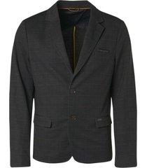 no excess blazer sweat check black