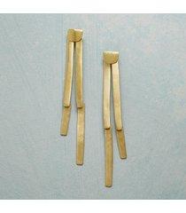 brass bamboo shoot earrings