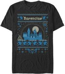fifth sun men's ravenclaw sweater short sleeve crew t-shirt