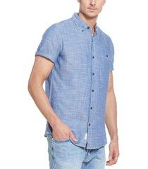 weatherproof vintage men's twill slub short sleeve shirt