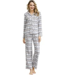 ink+ivy women's notch pajama top with the lounge pant set