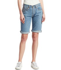 rag & bone women's rosa mid-rise denim walking shorts - misha - size 26 (2-4)