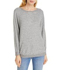 women's joie jennina drop shoulder sweater, size large - grey
