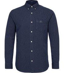 d1. indigo window pane reg bd skjorta casual blå gant