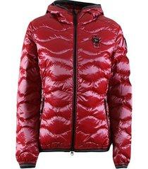 usa wave puffer jacket with hood