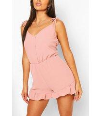 culotte jumpsuit met ceintuur, blush
