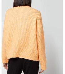 holzweiler women's drive knit cardigan - peach orange - l