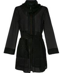 alcaçuz michele silk jacket - black