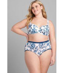 lane bryant women's no-show full brief panty 34/36 bright heritage floral