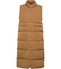 onlstacy quilted waistcoat cs otw vests padded vests brun only