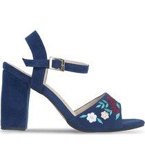 sandalias  mujer bata bonita azul