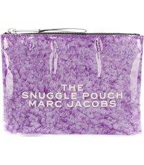 marc jacobs snuggle pouch clutch bag - purple