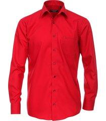 casamoda overhemd borstzak comfort fit kent non iron rood