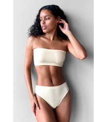 womens seamless nights bandeau bralette - nude