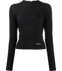 ambush zip-up long-sleeve top - black