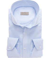 john miller shirt tailored fit lichtblauw streepje