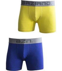pack 2 boxer algodón/lycra azul  amarillo baziano