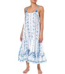 juliet dunn nomad long dress blue