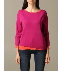armani exchange sweater armani exchange sweater with contrasting geometric edges
