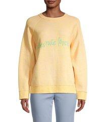 m missoni women's slogan raglan-sleeve sweatshirt - yellow - size m