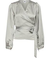 valentina blouse blus långärmad grå twist & tango