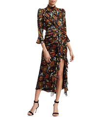juliana paisley-print midi dress