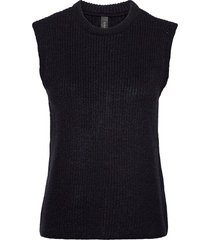 yaszal waistcoat d2d vests knitted vests blå yas