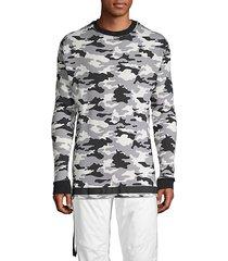 camo rib-knit sweater