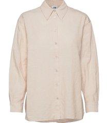 sara shirt overhemd met lange mouwen beige twist & tango
