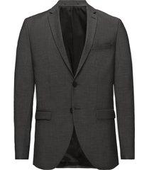 slhslim-mylobiga grey blazer b noos blazer colbert grijs selected homme