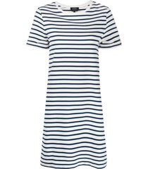 a.p.c. mariner jersey t-shirt dress - white